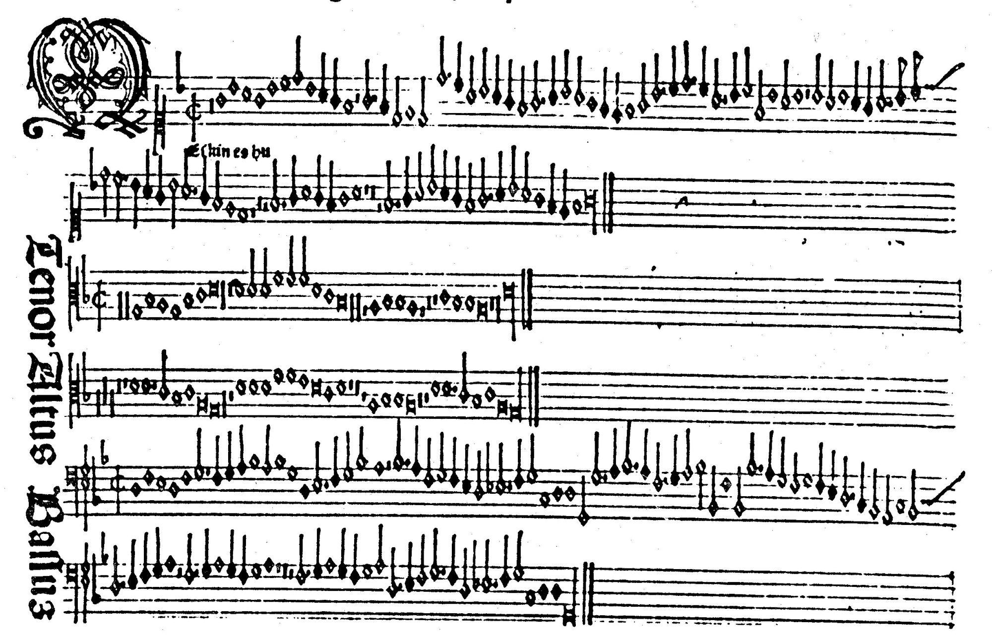 1466 年生於意大利威尼斯的彼特魯斯,發明了音樂的活版印刷,是音樂出版的先鋒。