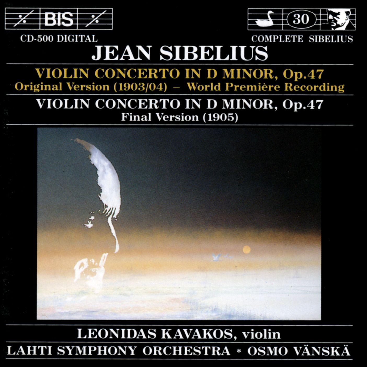 Leonidas Kavakos; Lahti Symphony Orchestra / Osmo Vänskä // BIS BIS-CD-500 - Recorded 1990