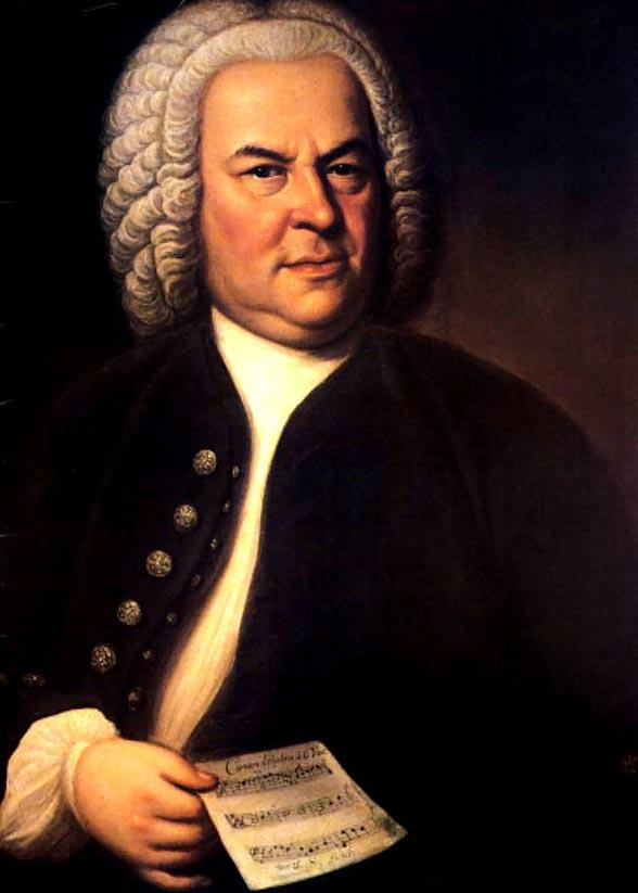巴赫現存唯一可靠的人像畫,由侯斯曼(EliasGottlob Haussmann)在1746年繪製。在他筆下,巴赫是一位有學識的音樂家,手上拿着的,雖然樂譜精簡,卻是一部謎樣的六部卡農(BWV1076)。